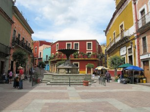 Plaza el Baratillo, near Alma del Sol, where some of us stayed downtown
