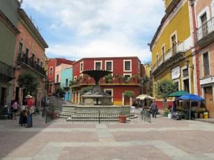 Plaza el Baratillo, near Alma del Sol, where some of us stayed downtown