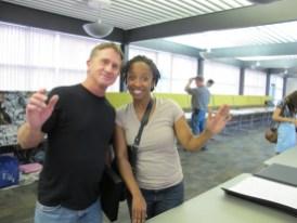 Oscar and Althea at open portfolio