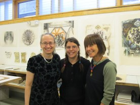 Suzanne and her daughter came to the open studio
