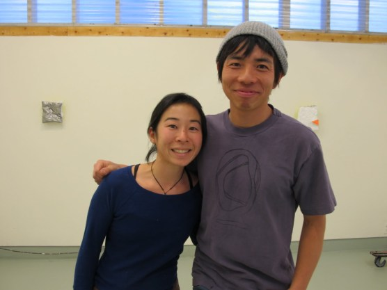 Yutaka and his wife in Elliana's studio
