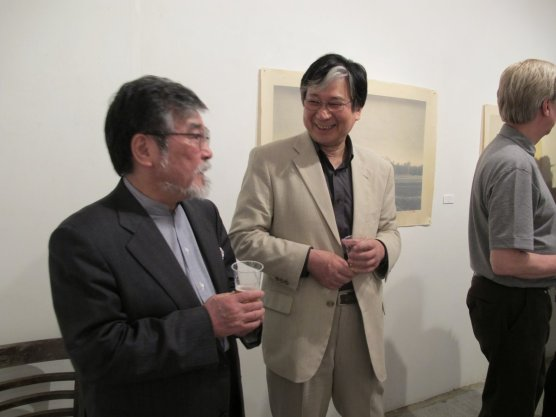Gallery Director and Kiezo Sato