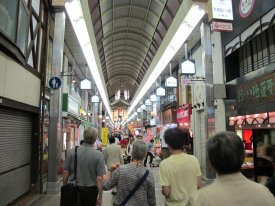 Kyoto at night, the covered markets