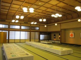 Nagaswa Art Park exhibiton in the tatami room