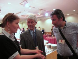 Tuula chats with Tetsuya Noda and Hasan Kiran