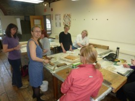 April Vollmer's Japanese woodblock class