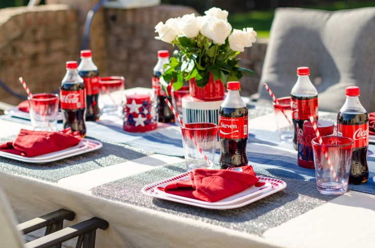#shop , #icecoldsummermoments , memorial theme tablescape , collective bias, share a coke, coca-cola, target