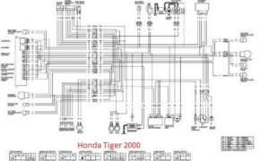 Diagram Kelistrikan Honda Tiger 2000