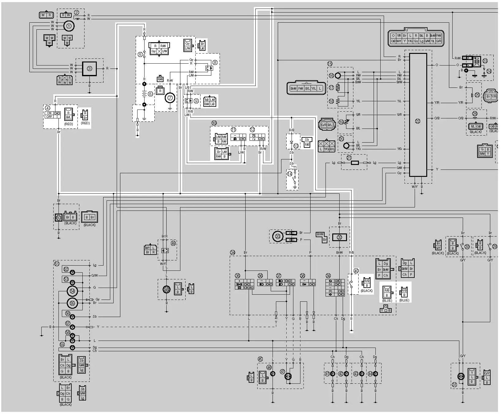 hight resolution of yamaha moto 4 350 cdi wire diagram imageresizertool com yamaha r6 wire diagram yamaha atv wire
