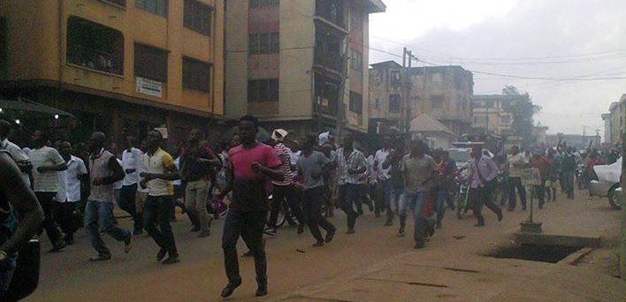 Protest In Onitsha Over Detention Of Nnamdi Kanu