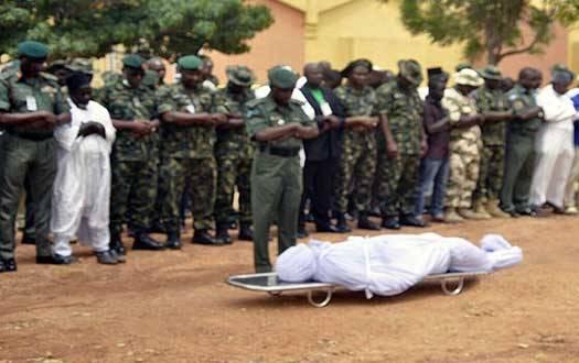Slain Colonel Inusa Buried In Kaduna (Photos)