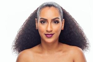 Juliet Ibrahim Floats Lashes, Lipstick Line