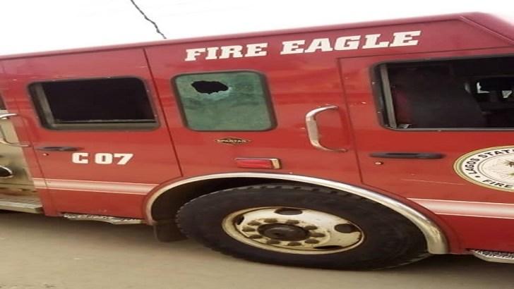 Hoodlums Attack Lagos Firemen, Destroy Fire Engine