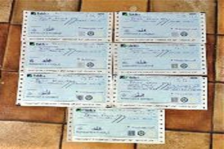 Recovered Cheques presented to the Victim