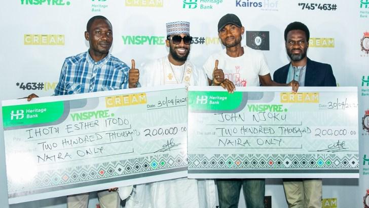 Heritage Bank's YNSPYRE, CREAM Platform April draw produce millionaires
