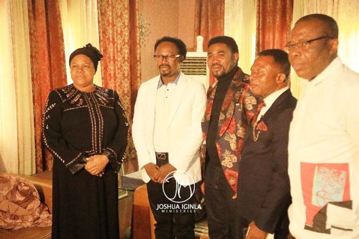 Prophet Iginla Visit TB Joshua's wife
