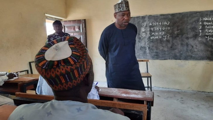 Borno Governor Holds Impromptu Test For Teachers, Supports Them