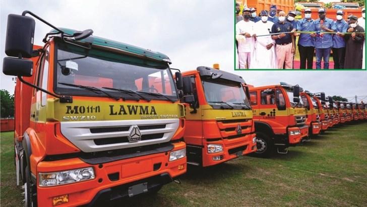 Cleaner Lagos: Sanwo-Olu Launches 102 Waste Trucks, Unveils Mobile App