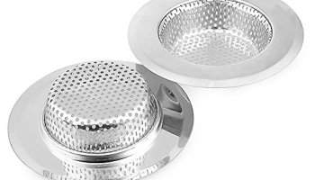 white large wide rim 45 diameterkitchen drain strainer basketmesh cover fits kitchen sinks - Kitchen Sink Strainer Basket