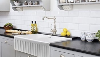 30 single bowl fireclay apron farm farm house kitchen sink white undermount or overmount sink - White Farmhouse Kitchen Sink
