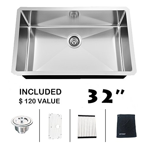 ufaucet commercial 32 inch 16 gauge 10 inch deep apron undermount single bowl stainless steel kitchen sinkhandmake 304 stainless farmer sink ufaucet commercial 32 inch 16 gauge 10 inch deep apron undermount      rh   apronsinkshop com