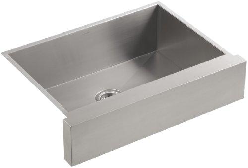 Koozzo Undermount Apron Front Ceramic Kitchen Sink 30 Rectangular Single Bowl Glazing White Sink//Basin MJ-3018