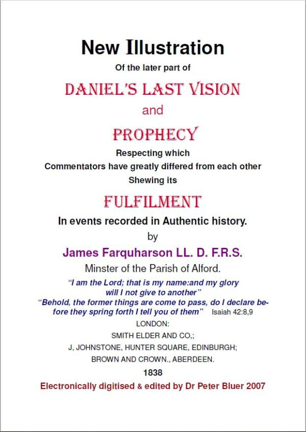 Daniels Last Vision And Prophecy By James Farquharson
