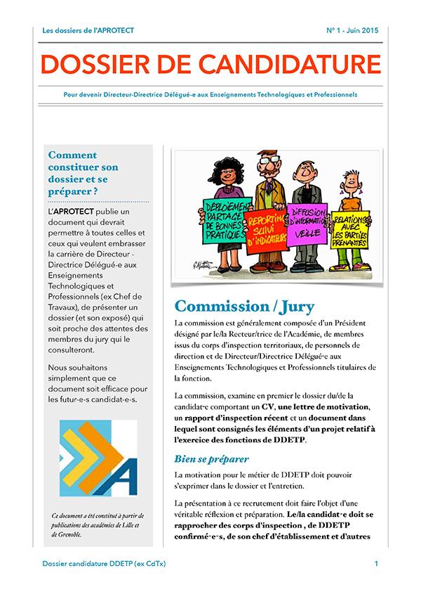 Dossier candidature DDETP