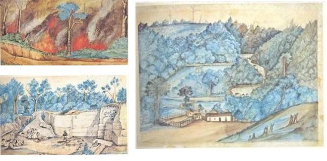 Queimada – 1847 / Pedreira do Varvito – Itú / Salto de Buturantin – Sorocaba
