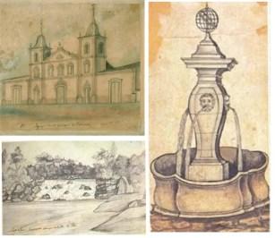 Igreja do Patrocínio em Itu / Porto de Goes abaixo do Salto de Itu – Rio Tietê / Chafariz do Largo da Misericórdia São Paulo