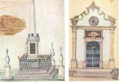 Túmulo de Júlio FranK Faculdade de Direito do Largo de São Francisco – São Paulo – 1847 / Convento do Carmo – Capela do Jazigo Itu – 1841