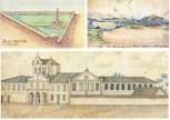 Pirâmide e Chafariz do Pique – São Paulo – 1847 / Vista do Pavilhão do Ipiranga – São Paulo – 1847 / Convento da Luz – São Paulo
