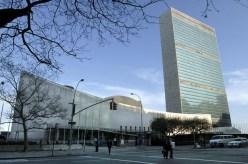 O edifício sede da Organização das Nações Unidas (ONU), localizado em Nova York, nos Estados Unidos. Oscar Niemeyer participou como membro dessa comissão de construção em 1947. A construção aconteceu entre 1949
