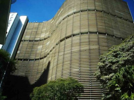 Edifício Copan, no centro de São Paulo (SP), um dos maiores residenciais da América Latina, com 1.160 apartamentos distribuídos em seis blocos, construído entre 1951 e 1966 .