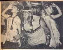 Os índios: Demetrius Hage, Silvia Hage e Ivany Audi