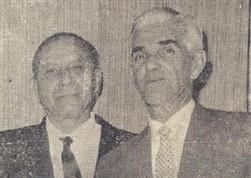 O Com. Mario Dedini e o dr. Romeu Carvalho, diretor da