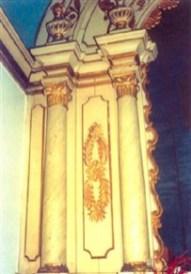 Detalhes do altar da Capela do Horto. Foto de F.F. Camargo Filho (2006).