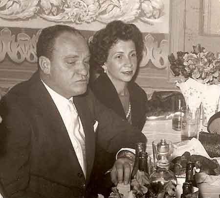 O casal Leopoldo-Dulce Dedini. Leopoldo foi, ao lado do tio Mário Dedini, um dos líderes empresariais brasileiros