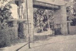 A entrada central da ESALQ