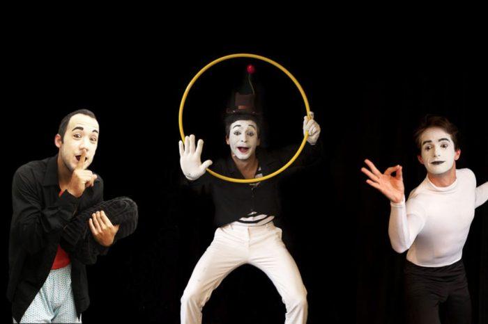 Circo – Intervenção clássica de Mimica com a Cia Mimos – Javier Cencig e Luiza Andrade