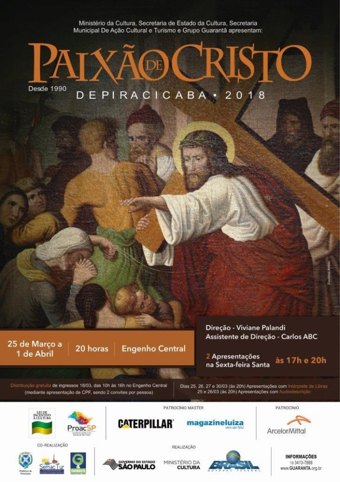 cartaz Paixão de Cristo de Piracicaba