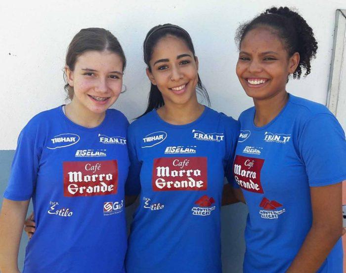 Atletas de Piracicaba Maria Beatriz, Maiara e Brenda