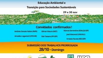 """Simpósio """"Educação Ambiental e Transição para Sociedades Sustentáveis"""""""