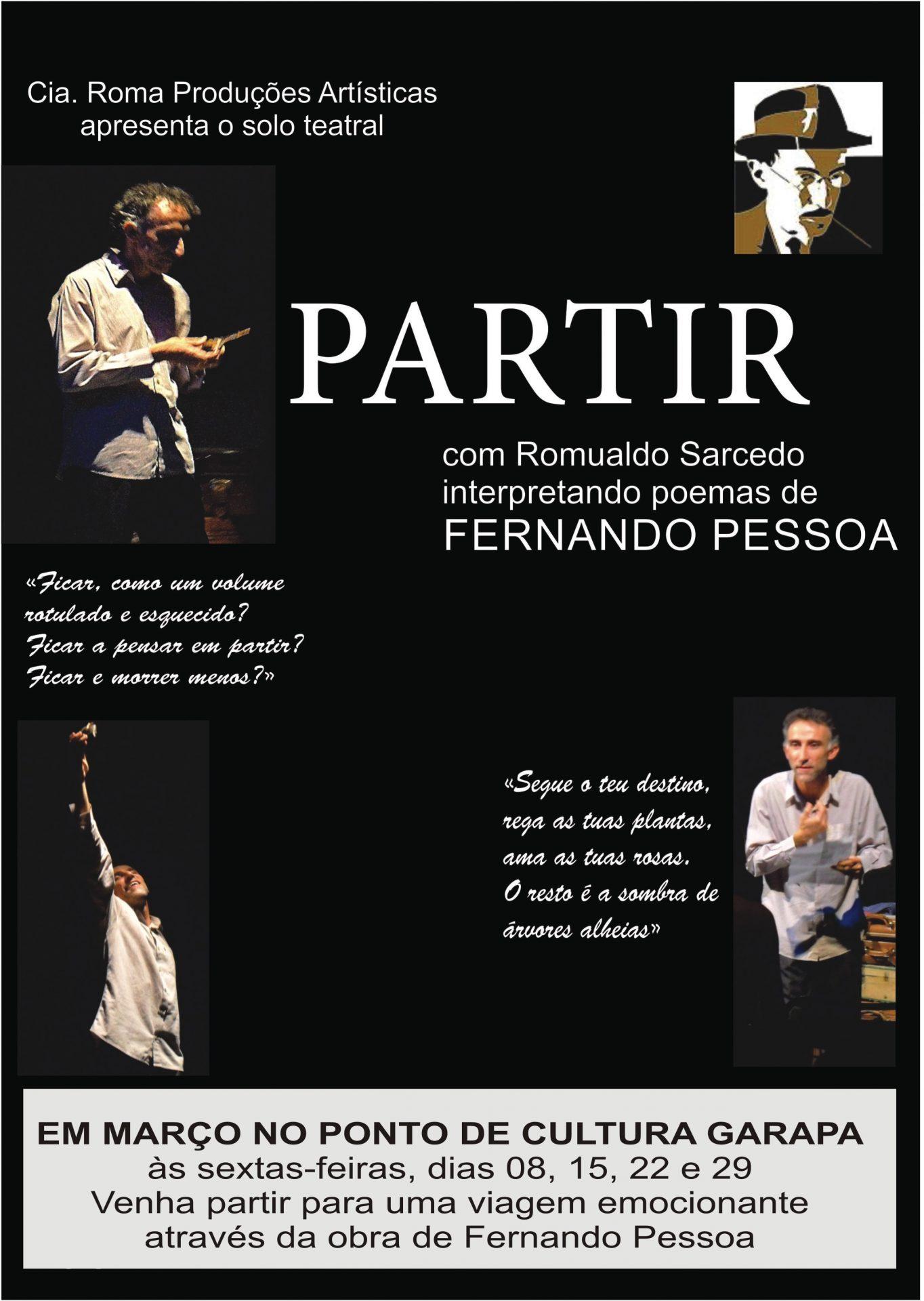 """Peça teatral """"Partir"""" terá curta temporada no Ponto de Cultura Garapa"""