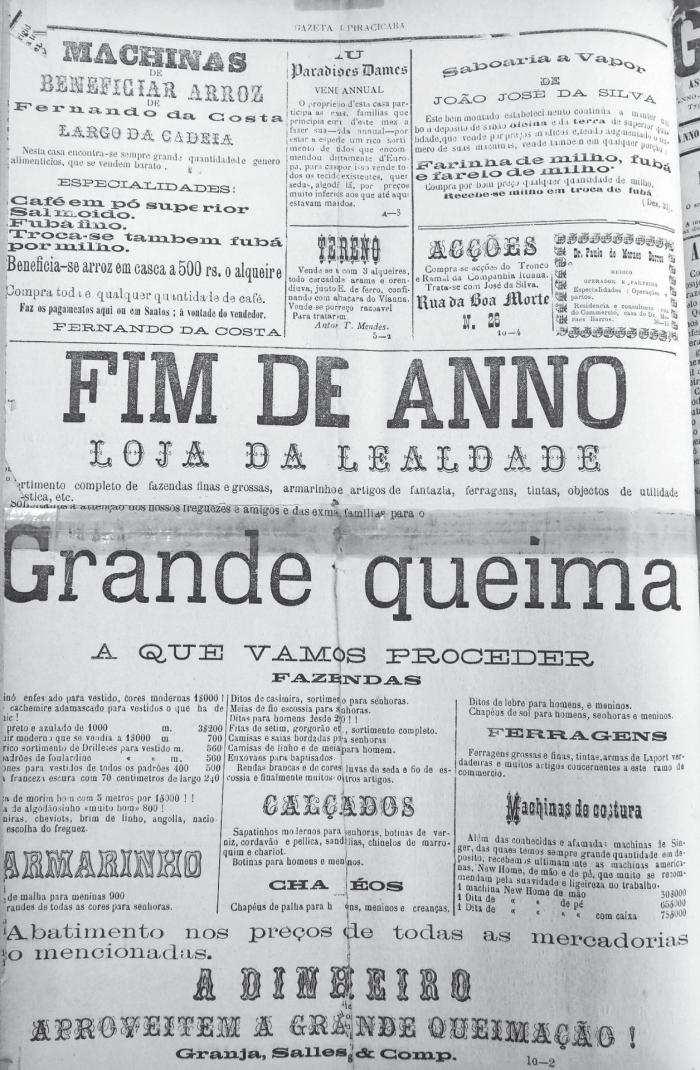Gazeta-Piracicaba-seculo-XIX