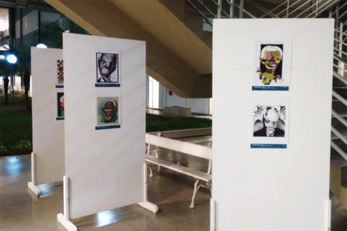 Mostra no Forum tem caricaturas de Nelson Mandela