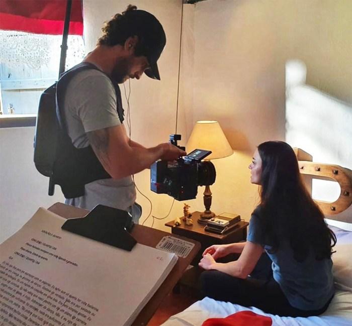 Processo de produção do curta metragem – FOTO MAYCON BARBON