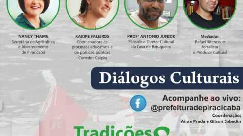 Live Diálogos Culturais debate tradições e festas