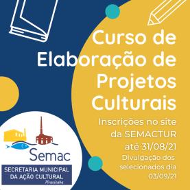 Curso de Elaboração de Projetos Culturais
