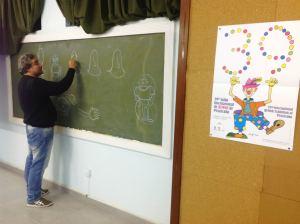 O cartunista Willian Hussar nas oficinas com professores - foto Danny Anderson